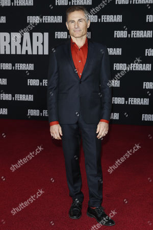 Peter Arpesella poses on the red carpet prior to the premiere of the Ford v Ferrari movie at TLC Chinese Theater in Hollywood, California, USA, 04 November 2019. The movie is to be released in US theaters on 15 November 2019.