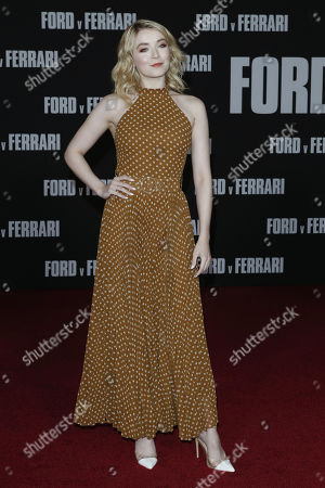 Sarah Bolger poses on the red carpet prior to the premiere of the Ford v Ferrari movie at TLC Chinese Theater in Hollywood, California, USA, 04 November 2019. The movie is to be released in US theaters on 15 November 2019.