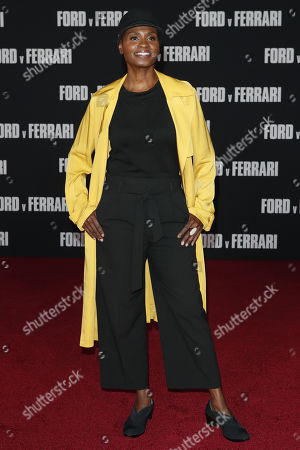 Adina Porter poses on the red carpet prior to the premiere of the Ford v Ferrari movie at TLC Chinese Theater in Hollywood, California, USA, 04 November 2019. The movie is to be released in US theaters on 15 November 2019.