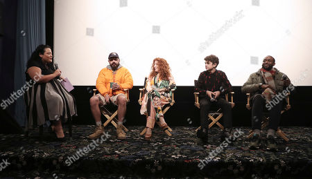 Stock Picture of Jenelle Riley, Shia LaBeouf, Alma Har'el, Noah Jupe and Byron Bowers