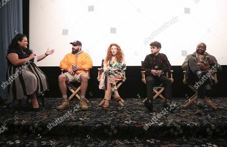 Jenelle Riley, Shia LaBeouf, Alma Har'el, Noah Jupe and Byron Bowers