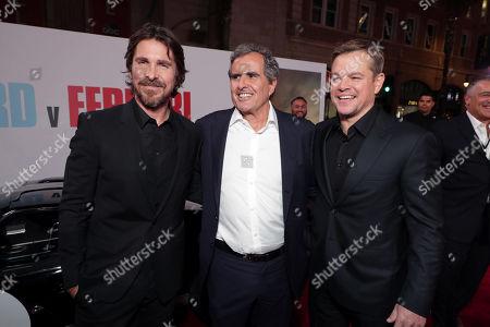 Christian Bale, Peter Chernin, Producer, Matt Damon