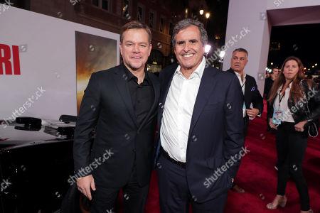 Stock Picture of Matt Damon, Peter Chernin, Producer,