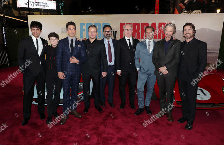 Francesco Bauco, Noah Jupe, Jon Bernthal, Matt Damon, James Mangold, Director/Producer, Tracy Letts, Josh Lucas, Ray McKinnon, Christian Bale