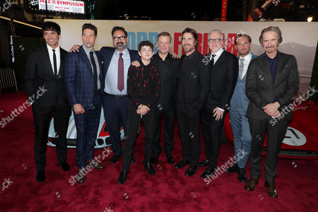 Stock Image of Francesco Bauco, Jon Bernthal, James Mangold, Director/Producer, Noah Jupe, Matt Damon, Christian Bale, Tracy Letts, Josh Lucas, Ray McKinnon