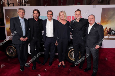 Alan Horn, Co-Chairman and Chief Creative Officer, The Walt Disney Studios, Christian Bale, Peter Chernin, Producer, Jenno Topping, Producer, Matt Damon, Alan Bergman, Co-Chairman, The Walt Disney Studios,