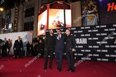 Christian Bale, James Mangold and Matt Damon