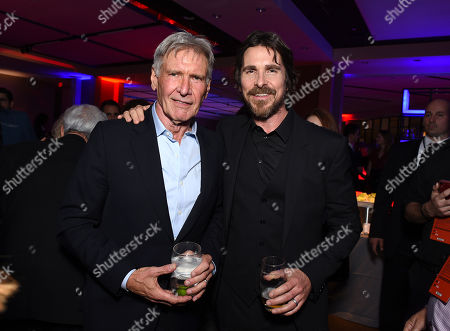 Harrison Ford, Christian Bale at the after party