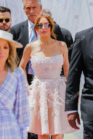 Lindsay Lohan on Lexus Melbourne Cup Day