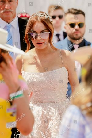 Stock Photo of Lindsay Lohan on Lexus Melbourne Cup Day