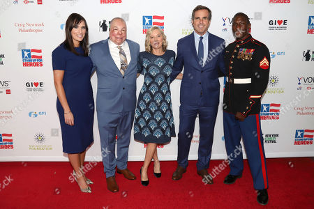 Anne Marie Dougherty, Israel Del Toro, Lee Woodruff, Bob Woodruff, Kionte Storey. Anne Marie Dougherty, from left, Senior Master Sgt. Israel Del Toro, Lee Woodruff, Bob Woodruff and Cpl. Kionte Storey attend the 13th annual Stand Up For Heroes benefit concert in support of the Bob Woodruff Foundation at the Hulu Theater at Madison Square Garden, in New York