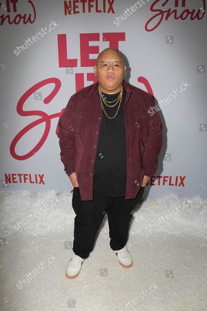 Jacob Batalon poses upon his arrival for the premiere of Netflix's 'Let It Snow' at The Grove in Los Angeles, California, USA, 04 November 2019.