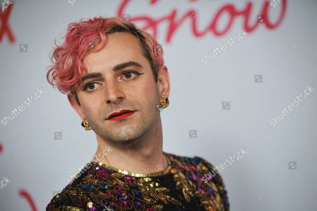 US talkshow host Jacob Tobia poses upon their arrival for the premiere of Netflix's 'Let It Snow' at The Grove in Los Angeles, California, USA, 04 November 2019.
