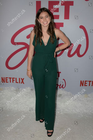 Lilia Buckingham poses upon her arrival for the premiere of Netflix's 'Let It Snow' at The Grove in Los Angeles, California, USA, 04 November 2019.