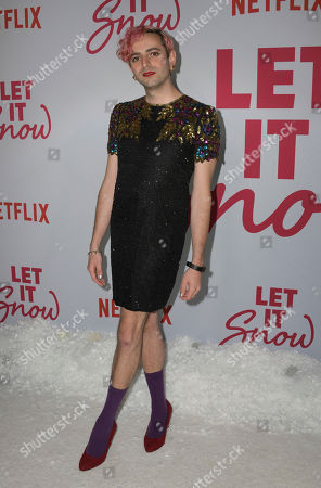US television host Jacob Tobia poses upon their arrival for the premiere of Netflix's 'Let It Snow' at The Grove in Los Angeles, California, USA, 04 November 2019.