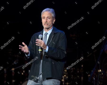 Jon Stewart performs