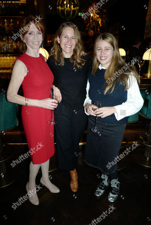 Stock Picture of Jane Asher with step-daughter Araminta Scarfe and granddaughter