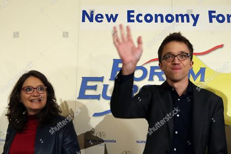 Leader of Mas Pais (lit. More Country) Spanish political party, Inigo Errejon (R), arrives to a breakfast briefing in Madrid, Spain, 05 November 2019. The former member of Podemos party, which he left in January 2019, is running for office after creating his own party. Spain is holding general elections 10 November 2019, after Spanish socialist Primer Minister Pedro Sanchez failed to form government following 28 April elections.