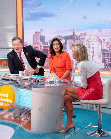 Piers Morgan and Susanna Reid with Emily Maitlis