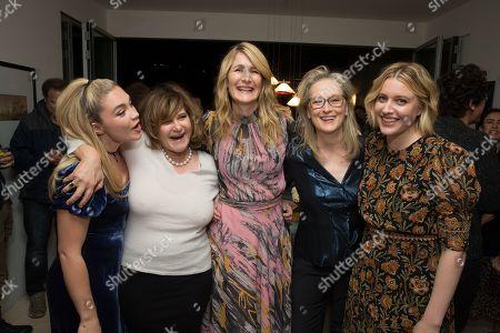 Florence Pugh, Producer Amy Pascal, Laura Dern, Meryl Streep and Writer/Director Greta Gerwig