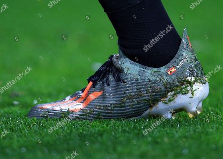 The personalised boot of Juan Mata of Manchester United