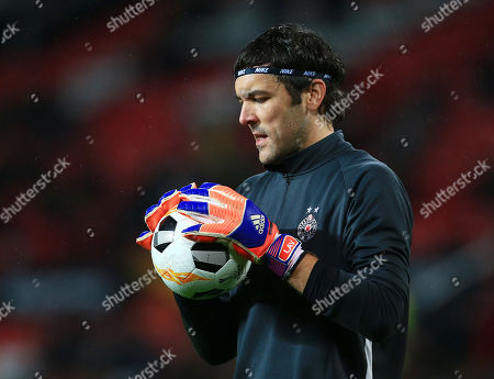Stock Picture of Partizan Belgrade goalkeeper Vladimir Stojkovic