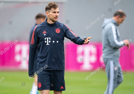 Bayern's Leon Goretzka attends a training session at the Club's training ground in Munich, Germany, 05 November 2019. Bayern Munich will face Olympiacos Piraeus? in their UEFA Champions League group B soccer match on 06 November 2019.
