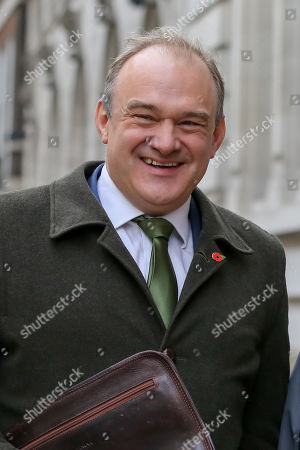 Deputy Leader of the Liberal Democrats and MP for Kingston and Surbiton Ed Davey arrives for the launch of Liberal Democrat general election campaign