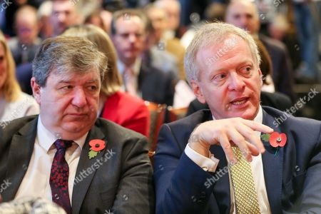 Liberal Democrat Party Chief Whip Alistair Carmichael (L) and Liberal Democrat MP for Bracknell Phillip Lee (R) at the launch of Liberal Democrat general election campaign