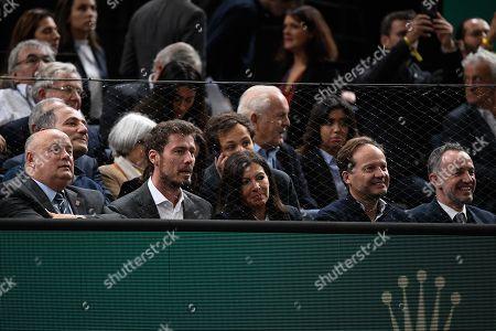Bernard Giudicelli, Anne Hidalgo and Marat Safin
