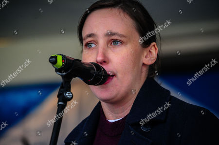 Member of Parliament for Paisley and Renfrewshire South Mhairi Black (SNP) addresses the independence supporters at the IndyRef2020 rally hosted by The National Newspaper.