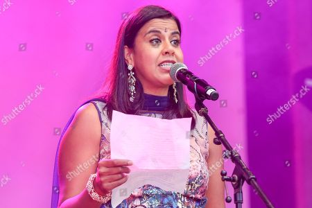 Pooja Shah speaks during the Diwali celebrations in London. Pooja Shah is a British actress, filmmaker and model of Kenyan-Asian descent. She is known for her role as Kareena Ferreira in the popular UK soap opera EastEnders. Pooja Shah works with her husband directing and writing short films and has won three film awards for them