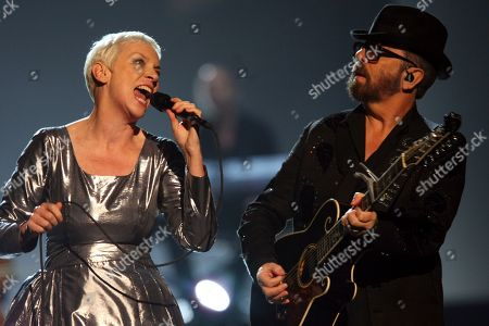 Annie Lennox, Dave Stewart. Annie Lennox, left, and Dave Stewart of the Eurythmics performing at The Night that Changed America: A Grammy Salute to the Beatles in Los Angeles. The Neptunes, the innovative production-songwriting duo of Pharrell Williams and Chad Hugo, are nominated for the prestigious Songwriters Hall of Fame 2020 class. Joining them as nominees are Outkast, R.E.M., Mariah Carey, Patti Smith, Journey, Vince Gill, Gloria Estefan, the Isley Brothers, the Eurythmics, Mike Love, David Gates and Steve Miller