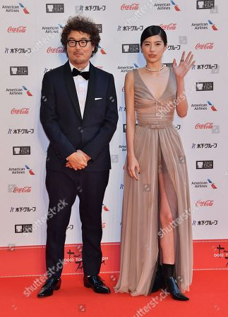 Stock Image of Director Koichiro Miki and Yui Sakuma attend the opening ceremony