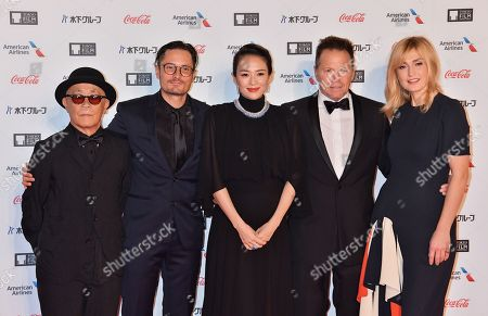 (L-R) Members of the International Competition Jury Ryuichi Hiroki, Michael Noer, Zhang Ziyi, Bill Gerber and Julie Gayet attend the opening ceremony