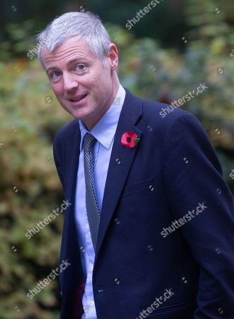 Zac Goldsmith, Minister of State, arrives for a Cabinet meeting. Parliament will go into recess at 12.01am tonight.