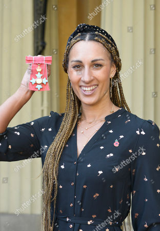 Stock Image of Miss Geva Mentor receives a CBE for services to netball.