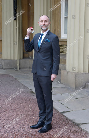 Stock Photo of Mr. Glenn Brown, Painter. Receives a CBE for services to Art.