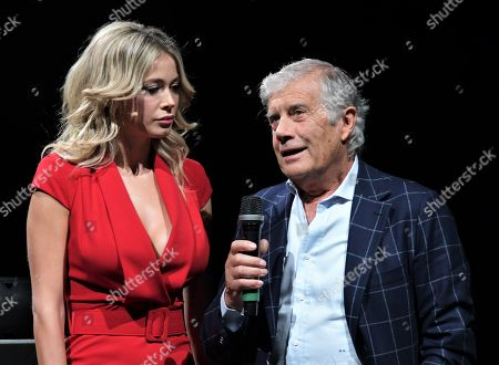 Diletta Leotta and Giacomo Agostini