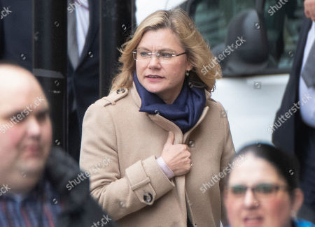 Former cabinet member Justine Greening attends Parliament on her last day as an MP. Ms Greening is standing down as the MP for Putney. The House is sitting for the last time today ahead of the General Election which will take place on December 12th.