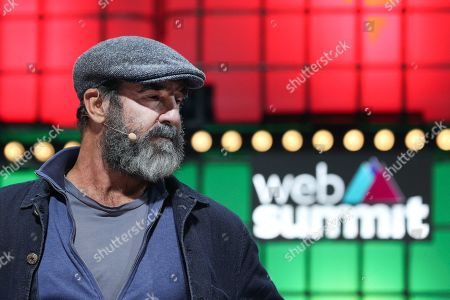 Former French soccer player Eric Cantona, speaks during the second day of the Web Summit in Lisbon, Portugal, 05 November 2019. More the 70,000 participants from 163 countries participate in the 2019 Web Summit, considered the largest event of startups and technological entrepreneur ship in the world, takes place from 04 to 07 November.
