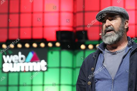Stock Picture of Former French soccer player Eric Cantona, speaks during the second day of the Web Summit in Lisbon, Portugal, 05 November 2019. More the 70,000 participants from 163 countries participate in the 2019 Web Summit, considered the largest event of startups and technological entrepreneur ship in the world, takes place from 04 to 07 November.