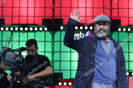 Stock Photo of Former French soccer player Eric Cantona, speaks during the second day of the Web Summit in Lisbon, Portugal, 05 November 2019. More the 70,000 participants from 163 countries participate in the 2019 Web Summit, considered the largest event of startups and technological entrepreneur ship in the world, takes place from 04 to 07 November.