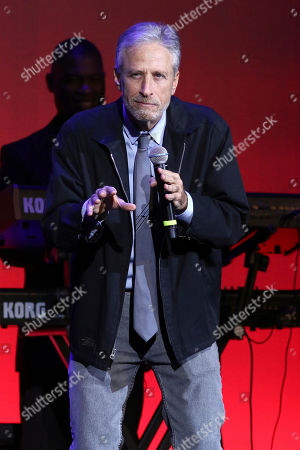 Jon Stewart performs at the 13th annual Stand Up For Heroes benefit concert in support of the Bob Woodruff Foundation at the Hulu Theater at Madison Square Garden, in New York