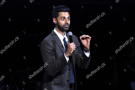 Hasan Minhaj performs at the 13th annual Stand Up For Heroes benefit concert in support of the Bob Woodruff Foundation at the Hulu Theater at Madison Square Garden, in New York