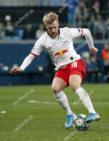 Emil Forsberg of RB Leipzig during the UEFA Champions League Group G match between Zenit St.Petersburg and RB Leipzig in St.Petersburg, Russia, 05 November 2019.