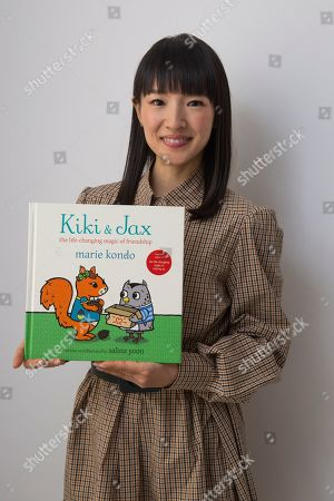 """Stock Picture of Marie Kondo poses for a portrait to promote her children's book """"Kiki & Jax: The Life-Changing Magic of Friendship"""", in New York"""
