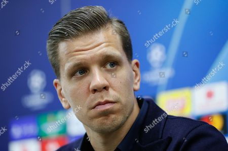 Goalkeeper Wojciech Szczesny of Juventus FC attends a press conference in Moscow, Russia, 05 November 2019. Lokomotiv Moscow will face Juventus FC in a UEFA Champions League match at Lokomotiv Stadium in Moscow on 06 November.
