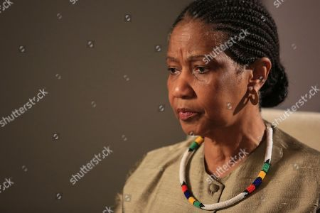 """Phumzile Mlambo-Ngcuka, United Nations Under-Secretary-General and Executive Director of U.N. Women, speaks during an interview with The Associated Press in Sarajevo, Bosnia-Herzegovina,. Mlambo-Ngcuka said the adoption of the 150-platform for action to achieve gender equality by 189 governments at the 1995 Beijing women's conference has pushed countries around the world to create a """"gender machinery"""" including specific laws and government bodies dedicated to addressing the issue of gender equality"""