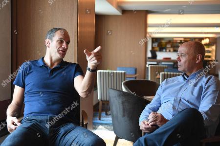 Martin Johnson and Clive Woodward